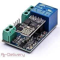 AZDelivery ⭐⭐⭐⭐⭐ ESP8266 – 01S ESP de 01 con relé WiFi/WiFi módulo para arduino y Raspberry Pi con Gratis eBook