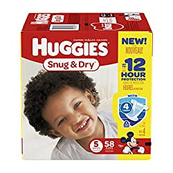 Huggies Snug & Dry Disney Baby Stage 5 Diapers (Over 27 lb) - 58 CT