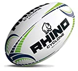 Rhino Cyclone Rugby Sports Match Jeu 3D Grip Cousu Main Ballon D'entraînement Sz 3-5 - Multicolore, EU 35.5