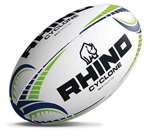 Rhino Cyclone Rugby Ball Small weiß