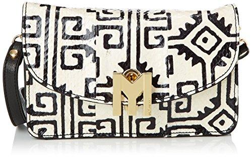 Mysuelly - Romy, Borsa a tracolla da donna, multicolore (blanc/noir), Taille Unique