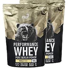nu3 Performance Whey Protein - 2kg de suero en polvo sabor vainilla con 74.9% de