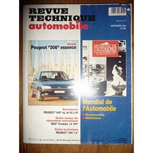 RTA0565 - REVUE TECHNIQUE AUTOMOBILE PEUGEOT 306 Essence