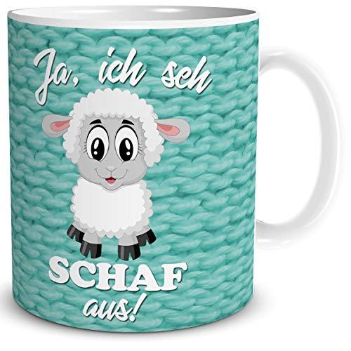 Tasse mit Schaf und lustiger Spruch - Ich Sehe Schaf aus - Geburtstag Geschenk für Frauen Freundin...