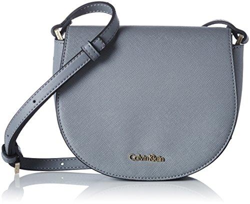 e0d253877 Calvin Klein - Marissa Saddle Bag, Shoppers y bolsos de hombro Mujer, Gris (