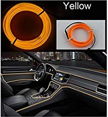 Ramanta™ EL Wire Car Interior Light Ambient Neon Light for Hyundai Creta Facelift - 5 Meter Roll (Yellow, Pack of 1)