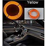 #9: Ramanta™ EL Wire Car Interior Light Ambient Neon Light for Cars - 5 Meter Roll (Yellow, Pack of 1)