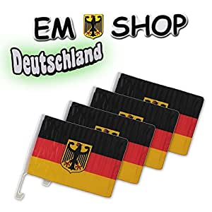 4x Autofahne Autoflagge WM Artikel 2014 Fanset Fanartikel Fanpaket Deutschland