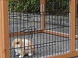 Kaninchen-Freilaufgehege Multirun Redbrown mit Nagerschutz 109x116x48cm
