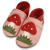 Formreich Krabbelschuhe/Babyschuhe rosa-erdbeer
