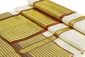 looms & weaves Women's Cotton Kerala Handloom Saree