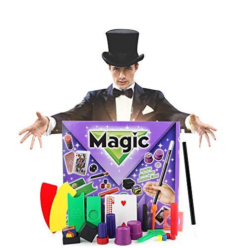 CX TECH Magic Set Zauberstab Kartentricks Deluxe Komplette Magic Show Klassische Tricks leicht gemacht Wissenschaft für Erziehungswissenschaften im Alter von 6 Jahren und darüber,Blue