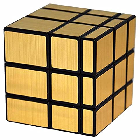 Coolzon® Miroir 3x3x3 Puzzle Magique Cube Jouet 57mm, Noir (Or)