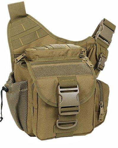 YAAGLE Tarnung satteltasches Paket bauchtasche gürteltasche hüfttasche Umhängetasche Kameratasche Outdoor Schultertasche militärisches satteltasches Paket-Tarnung 4 braun