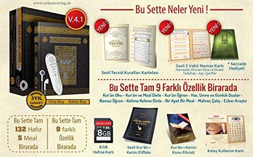 Kalem Kurani Kerim, Kuran okuyan kalem, Koran mit Lesestift Normal Boy Kabe Kutulu