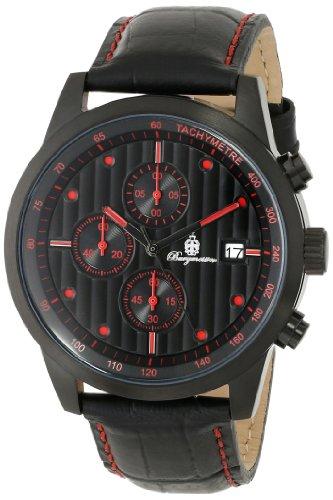 Burgmeister Armbanduhr für Herren mit Analog-Anzeige, Quarz-Uhr und Lederarmband - Wasserdichte Herrenuhr mit zeitlosem, schickem Design - klassische Uhr für Männer - BM607-620D Maui