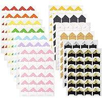 WXJ13 13 hojas, 13 colores de montaje foto esquinas álbum de foto Esquinas autoadhesivas para DIY Scrapbooking, imagen