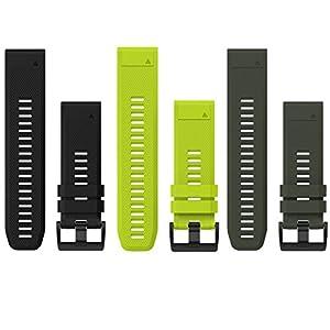 Garmin QuickFix Uhrenarmbänder 26mm – Verschiedene Farben für deine Fenix 5X