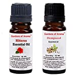 Gardens of Aroma - Hibiscus 10ml Essential Oils. Hempseed Essential Oil 10ml, Luxurious and Premium, High Quality, and Undiluted, Organic and Therapeutic Grade - Exceptional Choice for Aromatherapy, Massage and Aroma Diffusers - Suitable for All Skin Types - Use for Hair Care and Skin Care.
