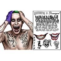 The Joker Temporary Tattoos Suicide Squad Costume Halloween Fancy Dress Batman (B)
