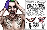 The Joker Temporary Tattoos Suicide Squad Costume Halloween Fancy Dress Batman (B)