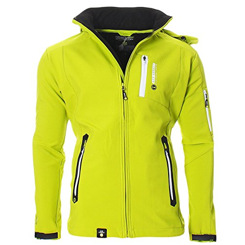 Geographical Norway Trimaran Uomo Softshell Outdoor Giacca Impermeabile Anapurna Tecnica - Verde, L