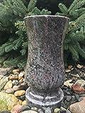 Vase Granite Orion (Vizag Blue) 29cm x 15cm Vase Cimetière Vase Tombe