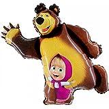 Masha y la forma del oso globo de la hoja