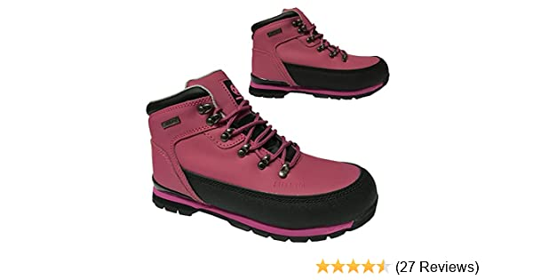 NEW WOMANS LADIES WORK SAFETY BOOTS STEEL TOE CAP TRAINERS HIKING BOOT SIZE 3-8