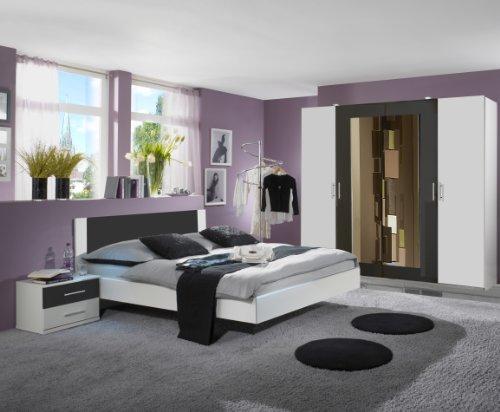 🛋 Wimex 727323 Schlafzimmer Nora Set bestehend aus Bett 180 x 200 ...