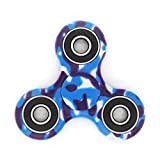 Hand Spinner Toy, Multicolor Camouflage Tri-Spinner Fidget Toy for Stress and Anxiety Relief - EDC Office Toy (C)