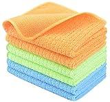 Bayeta de limpieza de microfibra / trapos de microfibra / paños microfibra / paños para limpieza 30 cm x 30 cm 6 Pack azul / verde / naranja
