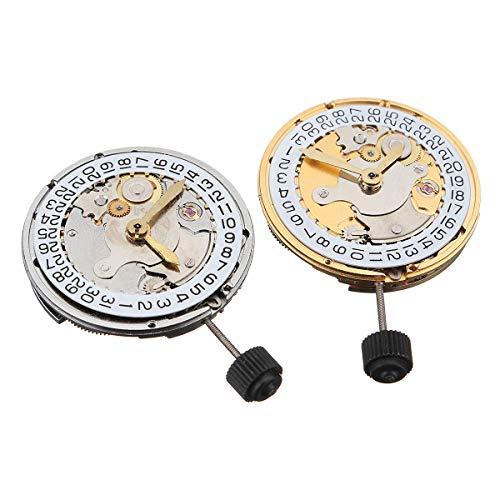 DyNamic Mechanischer automatischer Uhr-Bewegungs-Kalender-hohe Genauigkeits-Armbanduhr-Ersatz für ETA 2824 - Weiß