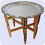 Simandra Marokkanischer Tisch Beistelltisch Teetisch orientalisch mit Silbertablett -klein- Farbe Motiv 2