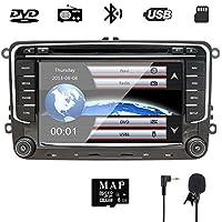 7 pulgadas para auto estéreo Doble Din con DVD/Navegación GPS/RDS/ Bluetooth