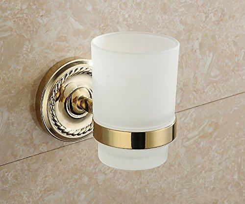 Xzi Brosse à dents titulaire de la cupule en verre de verre en or style européen 8 * 11 * 10cm A+