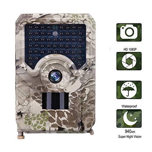 ZYG.GG Trail Wildlife-Kamera 1080P 12MP Wild Hunting Cam Infrarot, Bewegung aktiviert Nachtsicht IP56 wasserdicht, für Outdoor Nature Home Security