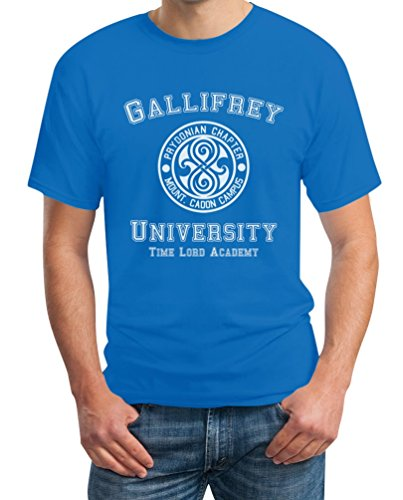 Gallifrey University T-Shirt - Doctor Time Academy Who Hellblau