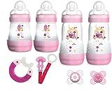 MAM Starterset - Neugeborenenset - Motiv Rosa für Mädchen