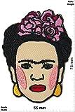 Patch-Iron-Frida Kahlo - Artist - Malerin - Surrealismus - - Love - - Iron On Patches - Aufnäher Embleme Bügelbild Aufbügler
