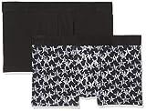 Skiny Herren Hipster Monochrome Pant 2er Pack, Schwarz (Blackstone Selection 1781), Large