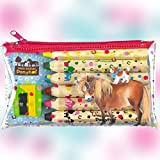 Unsere Pony Club Pferd Friends Farbige Bleistift Set mit Spitzer, Modell # 12250
