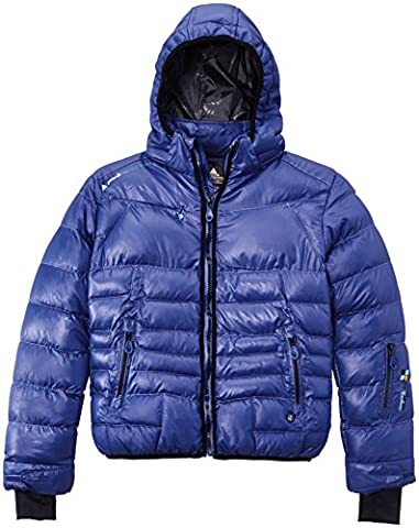 Peak Mountain Galpine/Yl Girls' Down Jacket purple violet Size:FR : 10 ans (Taille Fabricant : 10)