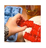 Thumbs up Jelly Bear Shot - Silikon Form - Blau
