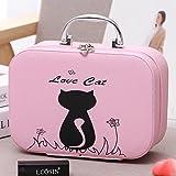 Sac cosmétique de grande capacité sac ordinateur portable mobile coréen belle vanité cosmétique cosmétique de la taille du paquet, une petite boîte rose,