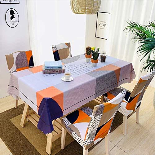 SONGHJ PVC wasserdichte Tischdecken Pflanze Pastoralen Tischdecke Hintergrund Tuch Kunststoff Tischdecke Wohnkultur B 135x180 cm