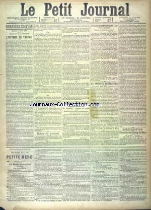 PETIT JOURNAL (LE) [No 9665] du 12/06/1889