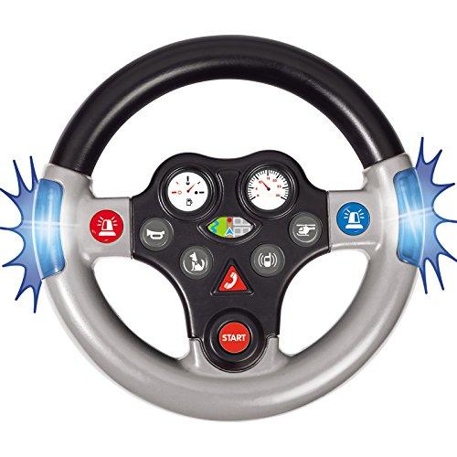 #1118 Soundlenkrad Elektrisches Lenkrad für das Bobby Car, Verschiedene realgetreue Geräusche und Licht • Rutschauto Zubehör Rutscher Lenker Polizei