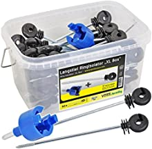 50x Anillo aislador a distancia para hilo, cinta conductora, cable para pastor eléctrico, + caja