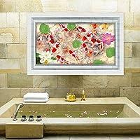 3d pesci laghetto fiori di loto foglie Farfalle pavimento carta adesivi da parete decalcomania artistica da parete in vinile rimovibile in PVC camera da letto soggiorno decorazioni per bambini Nursery per